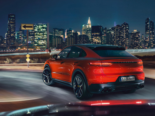 Shaped by performance. The new Cayenne Turbo Coupé.